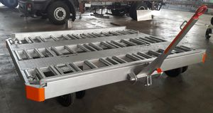pallet trailer / 2-axle / for airports