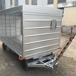 runway baggage trailer