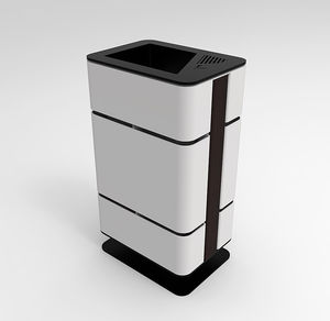 airport waste bin / floor-mounted / recycling / with built-in ashtray
