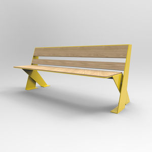 airport bench / metal / wooden