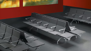 airport beam chairs / multiplace / with armrests