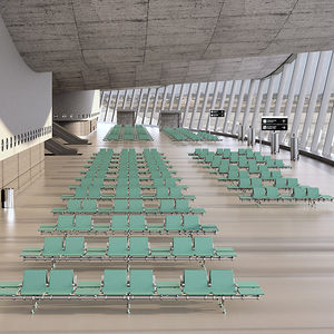 airport beam chairs / multiplace / metal / without armrests