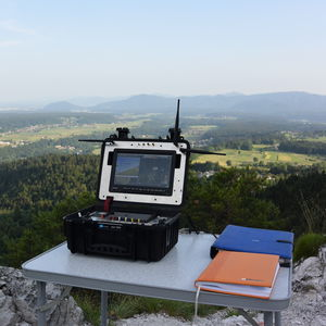 drone ground station / with mouse piloting