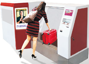 self-service automated bag drop / payment kiosk / with check-in / with CUSS