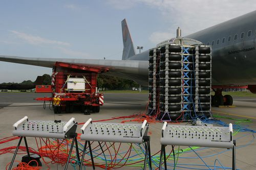 air-cushion lifting system / for aircrafts / for airports