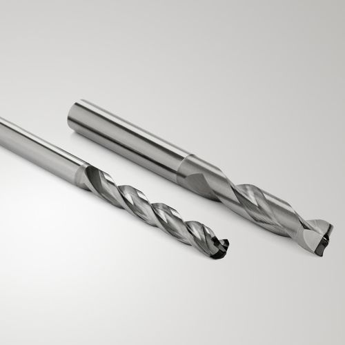 solid drill bit / for metals / for composites / diamond