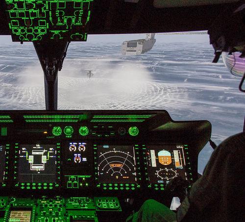 aircraft simulator / training / cockpit