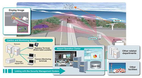 radar bird detection system / with surveillance camera / for airport runways