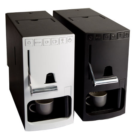 Aircraft capsule coffee maker