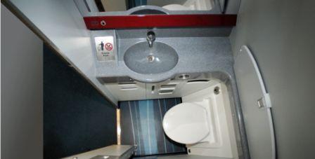 aircraft cabin toilet