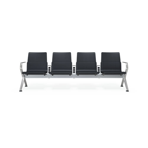 airport beam chair / 4-seater / metal / with integrated power supply