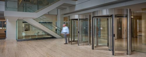 automatic revolving door / security / for airports