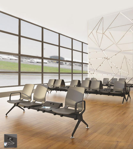 airport beam chair / multiplace / metal / without armrests