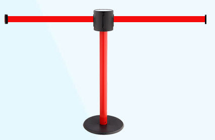 tape guidance barrier / for airports / flat-head