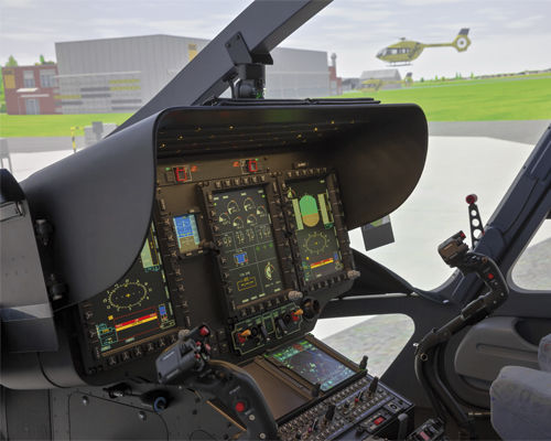 aircraft simulation cabin / helicopter / training / cockpit