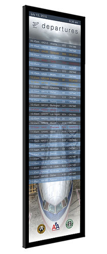 airport flight information display system