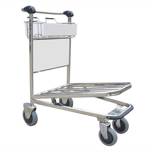 Airport terminal luggage trolley - HI-GJI-300 - Handle-iT Ltd - for passengers / open / 4-wheel
