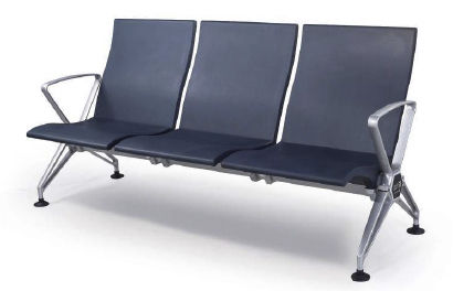 airport beam seating / 3-seater / metal / plastic