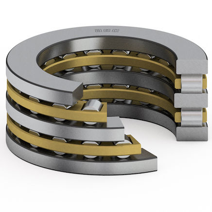 cylindrical roller bearing / axial / high-precision / for airliners