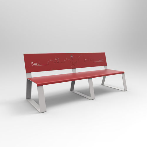 airport bench / metal