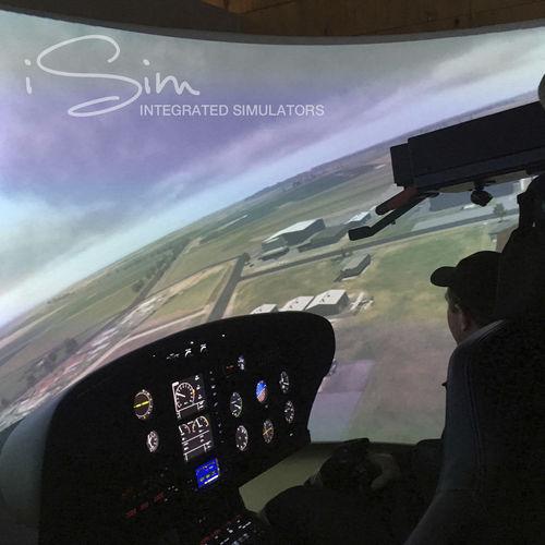 helicopter simulator / training / cockpit