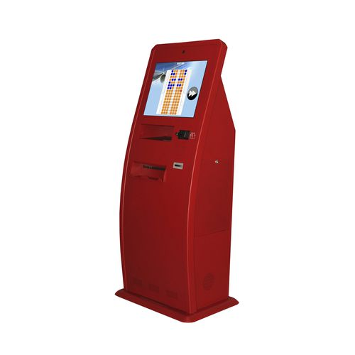 multi-purpose check-in kiosk / with barcode reader / with boarding pass reader / with printer