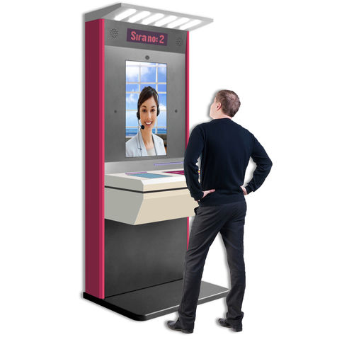 WiFi interactive kiosk / multimedia / information / for airports