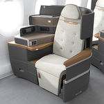 business aircraft seat / for business class / with adjustable headrest / flat bed