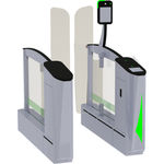 boarding e-gate with biometric reader / with RFID reader / with barcode reader / with boarding pass reader