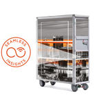 full-size aircraft cabin service cart