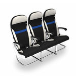 aircraft cabin seat / economy class / for passengers / with armrests