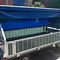 ground support baggage cart / 4-wheel / with tarpaulin