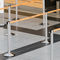tape queue barrier / for airports / wall-mounted