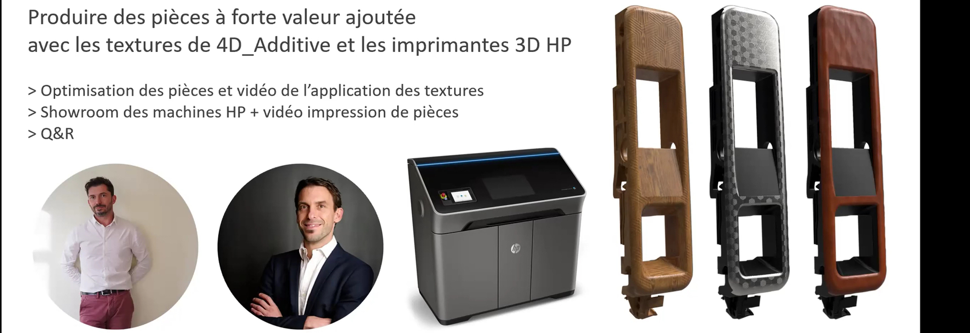 30' Webinar Producing high value-added textured parts with 4D_Additive textures and HP 3D printers