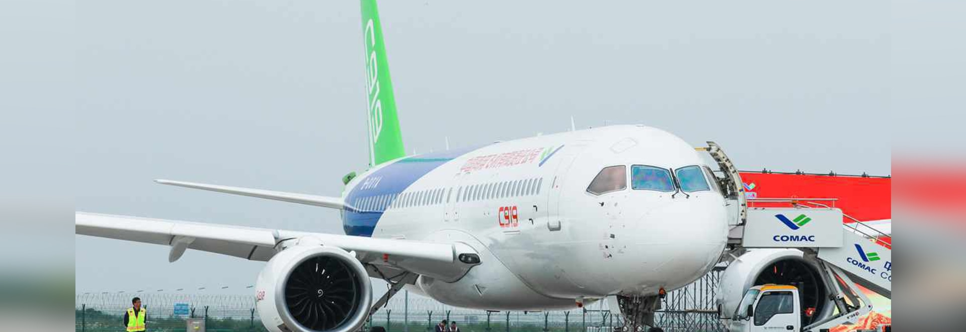 The C919 has not flown as much as expected due to continuing design refinements. (Photo: Comac)