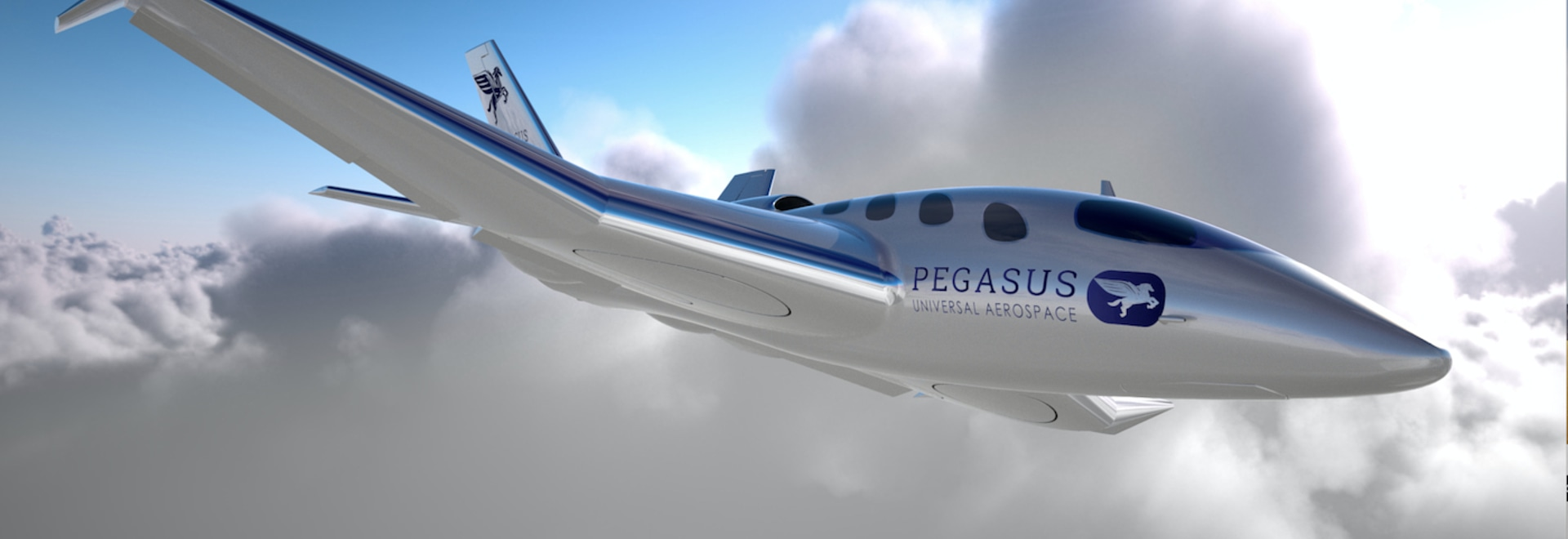 The designers believe Pegasus One will compete with more traditional biz jets on short to medium distance trips.