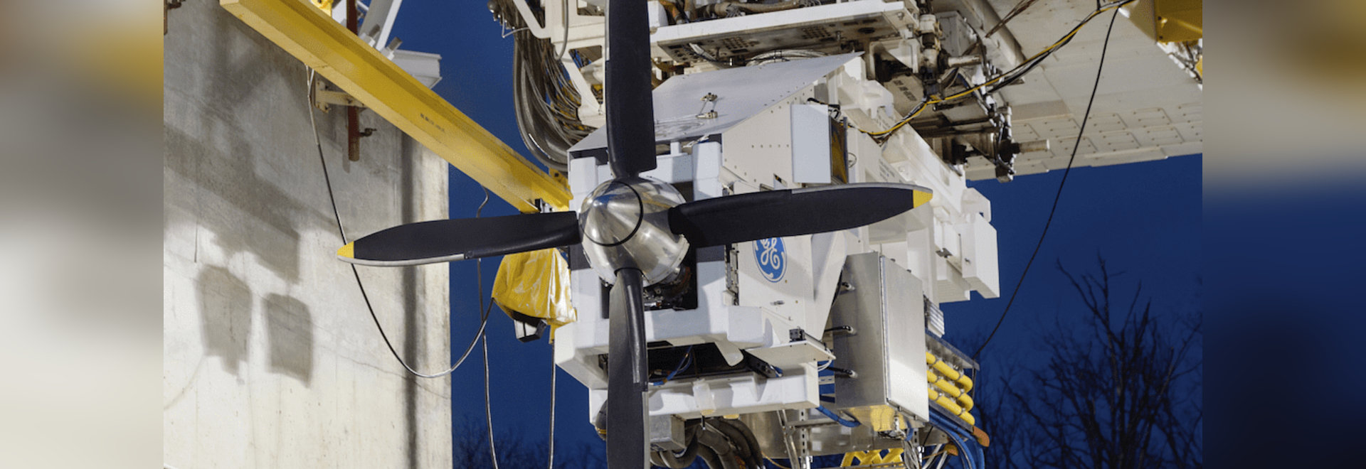 Hybrid-electric motor generator test at Peebles Test Operation in Peebles, Ohio.