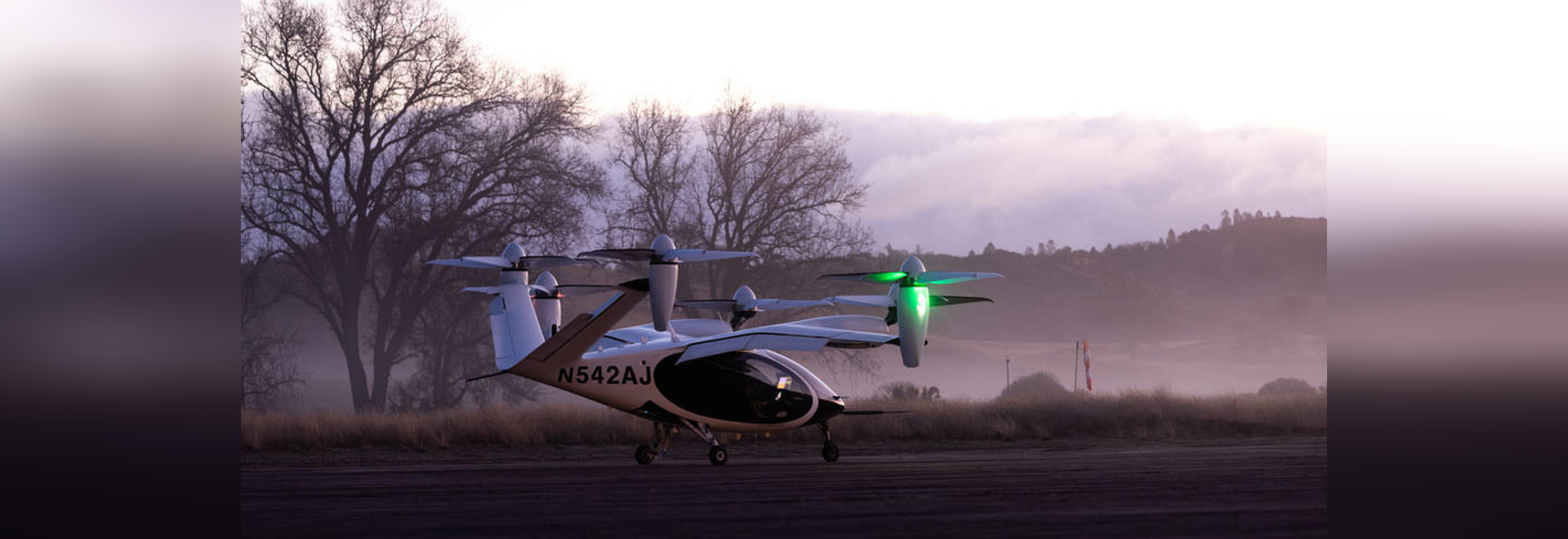 Joby's all-electric vertical takeoff and landing (eVTOL) aircraft is pictured at the company's Electric Flight Base, located near Big Sur, California. NASA began flight testing with the aircraft as...