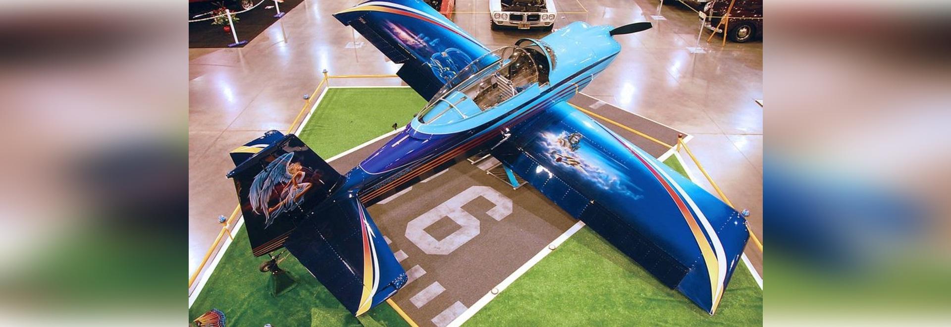 "John Stahr's RV-8 ""American Angel"" on display at the Portland, Oregon Hot Rod Show."
