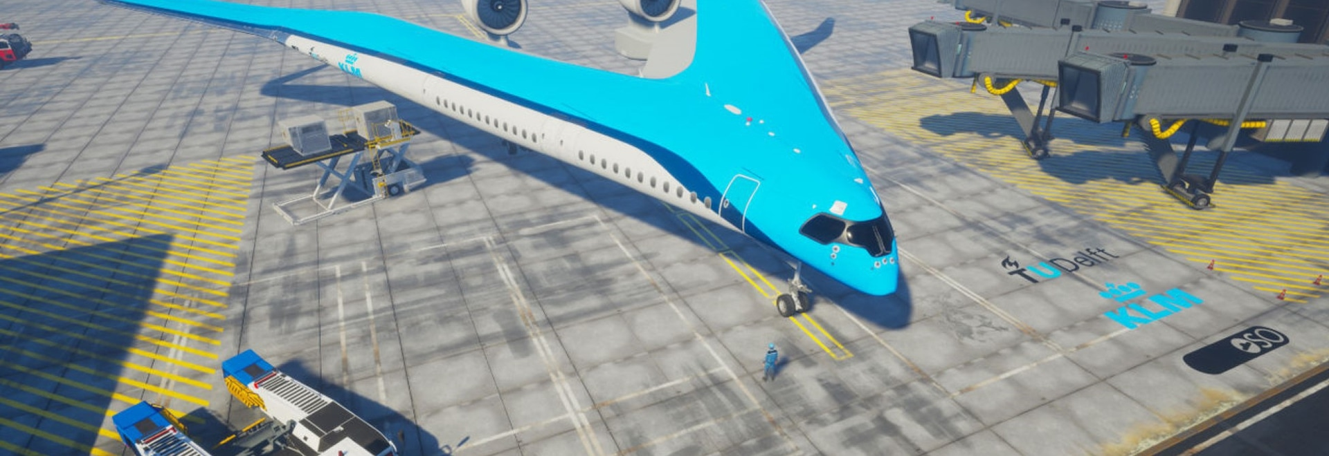KLM partners with TU Delft for Flying-V aircraft concept
