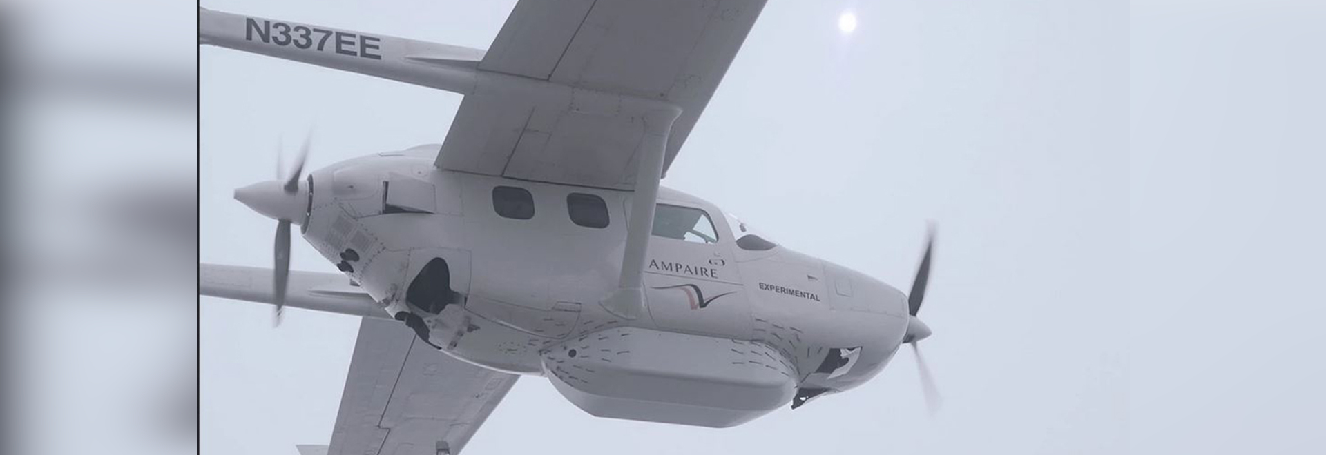 The latest Ampaire hybrid Cessna 337 prototype moved the battery pack to a separate pod slung beneath the aircraft.