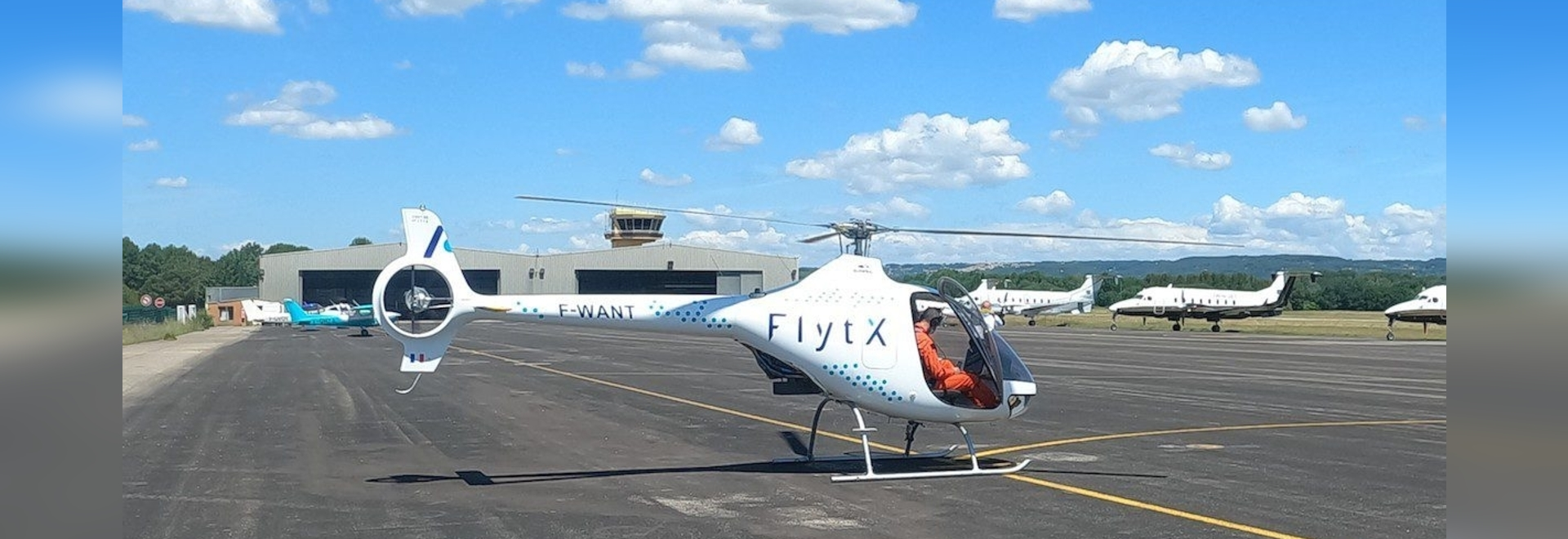 Thales is using this modified Cabri helicopter to test a prototype version of its next generation cloud-native FlytX avionics suite
