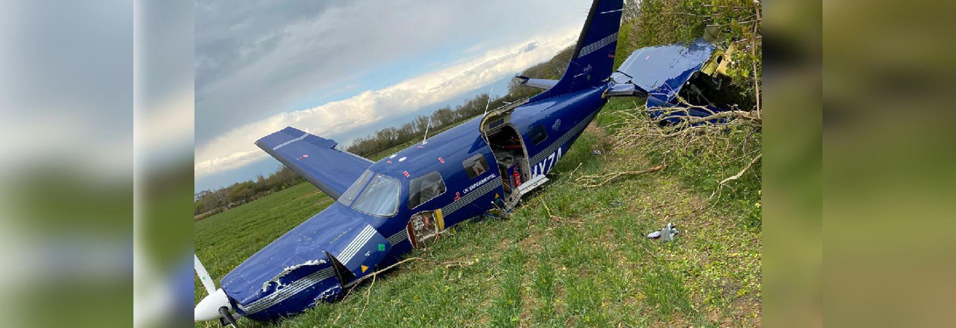 """ZeroAvia's research and development aircraft for its hydrogen propulsion system made an """"off-airport"""" landing according to the startup, the aircraft crashed just outside of Cranfield Airport."""