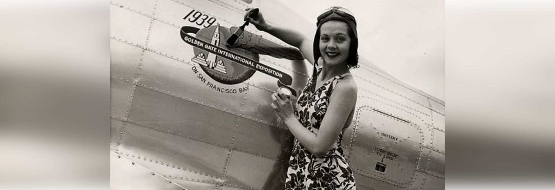 Zoe Dell Lantis Nutter traveled across the US in the late 1930s promoting commercial aviation on United's DC-3s.