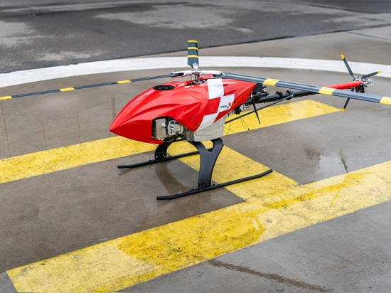 The drone uses heat-seeking technology to find people