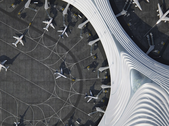 """MAD reveals """"snowflake"""" design for China's Harbin Airport Terminal Three"""