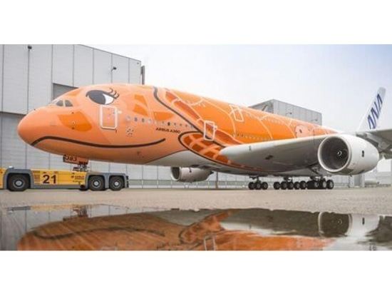 Airbus shows third & final ANA's Green Sea Turtle A380