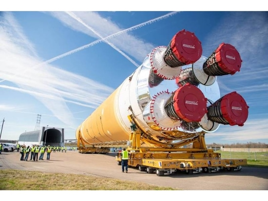 Boeing delivers Nasa's first Space Launch System rocket core stage