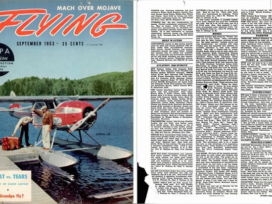 The September 1953 issue of Flying Magazine featured a classified ad for what would become the Antique Airplane Association.