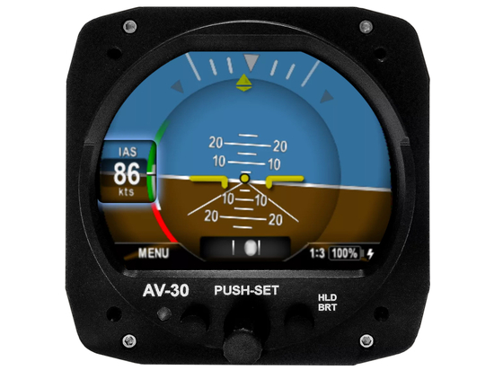 AV-30-C can replace either an aircraft's attitude indicator or directional gyro.
